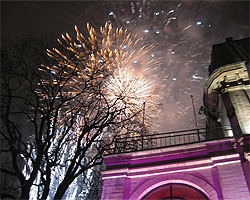 новогодний салют в Таллинне