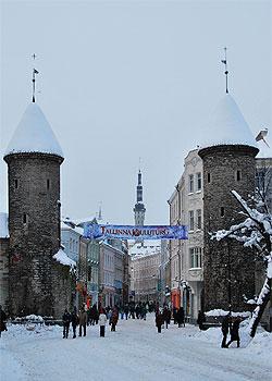 Ворота в Старый Город зимой